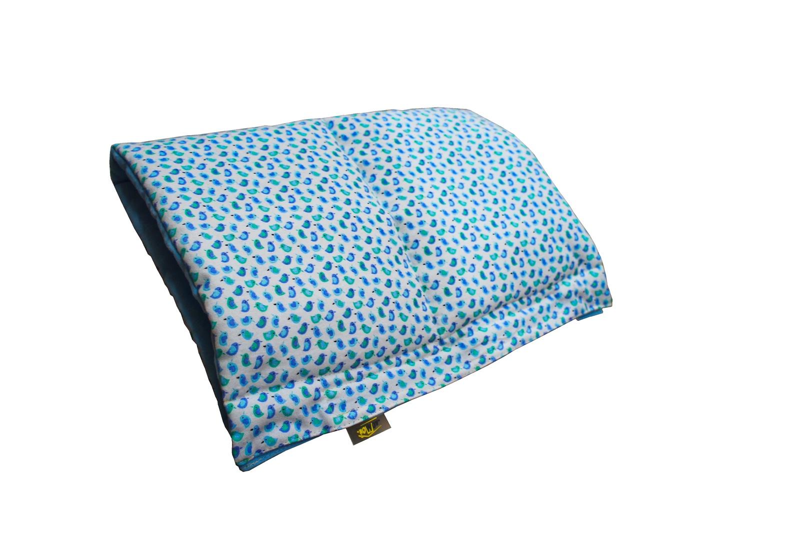 Подушка для кормящих и беременных ДомМой 6DU003Q, голубой для кормления ребенка на улице