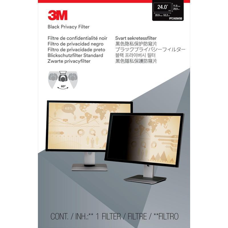 Экран защиты информации 3М для монитора, 24.0 дюйма, широкоформ.,черная, 16:9 (PF240W9B) договор для парикмахерской о нераспространении конфиденциальной информации
