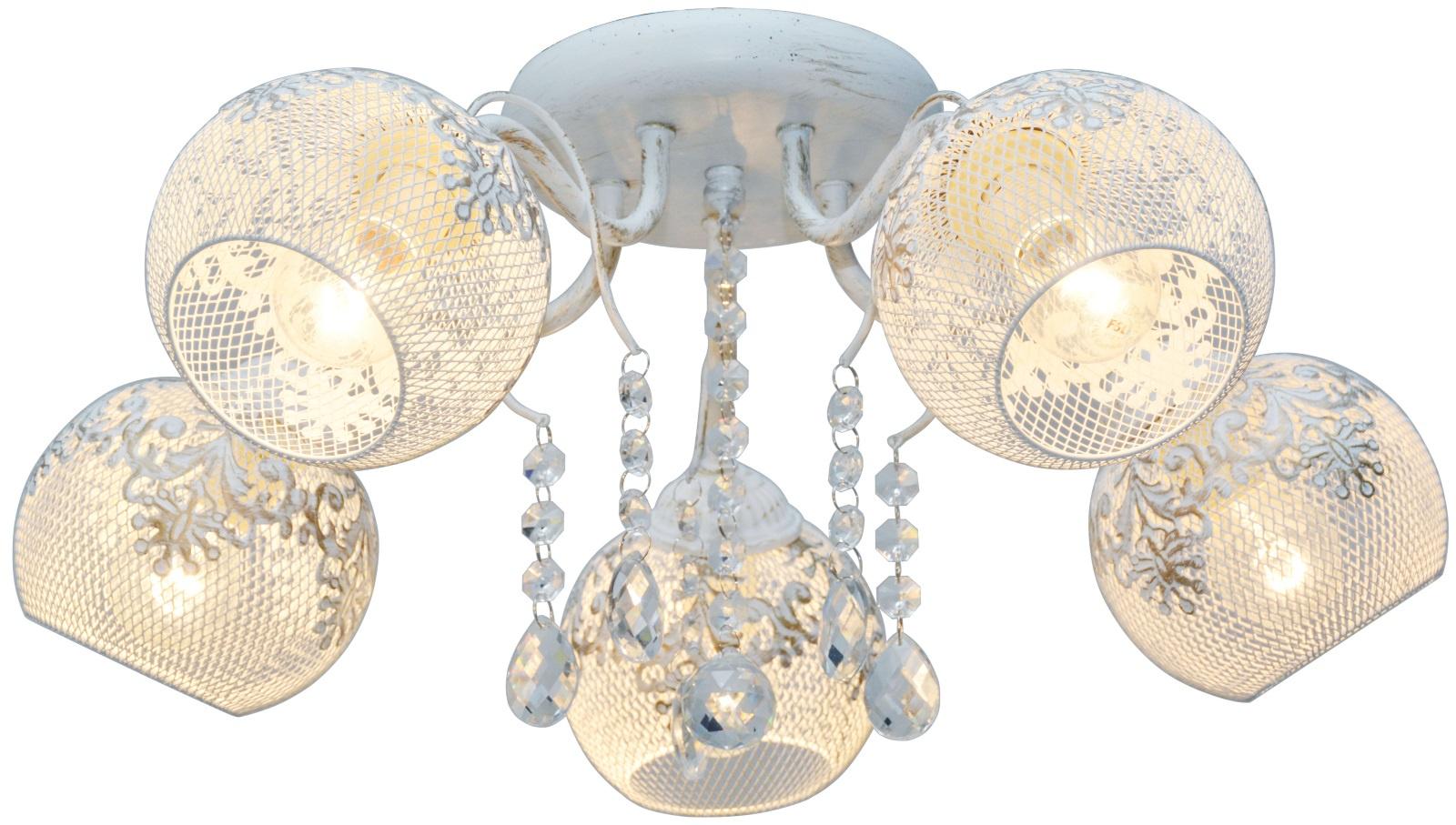 Потолочный светильник Лампландия Edmon, светло-серый люстра потолочный светильник аврора бунгало 10014 5l