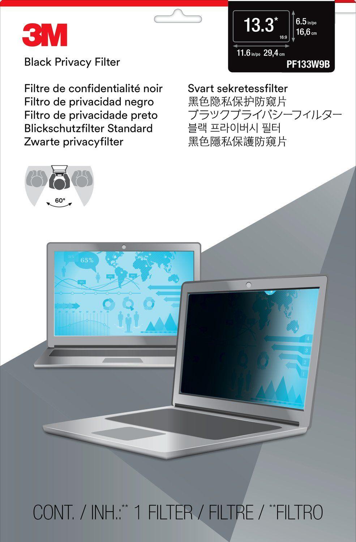 Экран защиты информации 3M для ноутбука, 13.3 дюймов, широкоформ.,черная, 16:9 (PF133W9B) договор для парикмахерской о нераспространении конфиденциальной информации