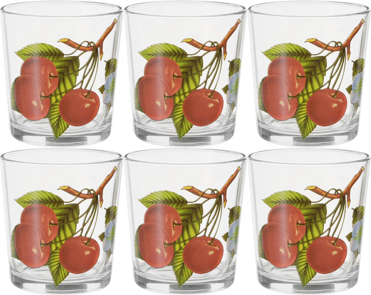 Фото - Набор стаканов ОСЗ Ода Вишни, 250 мл, 6 шт [супермаркет] jingdong геб scybe фил приблизительно круглая чашка установлена в вертикальном положении стеклянной чашки 290мла 6 z