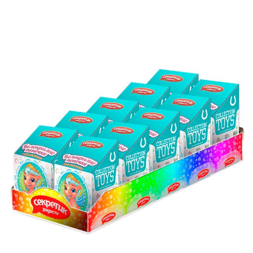 Сладкий набор с игрушкой Секретик радости Белокрылые понечки малютки 10 шт игрушка коллекционная игрушка с цукатами бархатные понечки