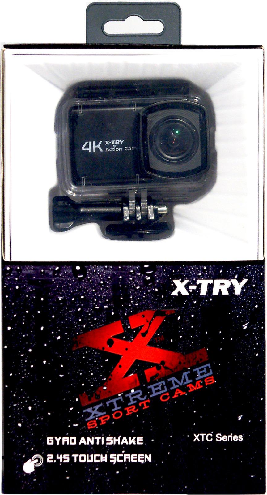 Экшн-камера X-Try XTC442 Autokit Touch UltraHD 4K + Remote X-Try