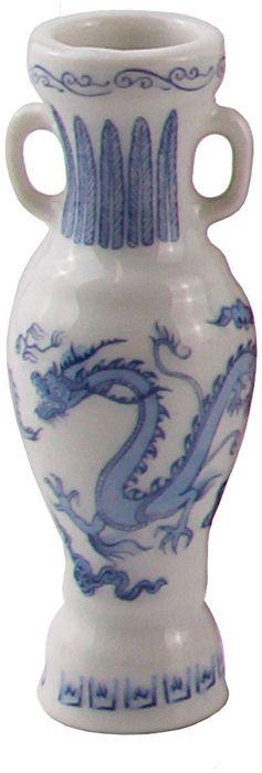 Ваза Franklin Mint OC36005, белый, голубой ваза noritake миниатюрная лебедь на озере фарфор роспись люстр япония середина 20 века