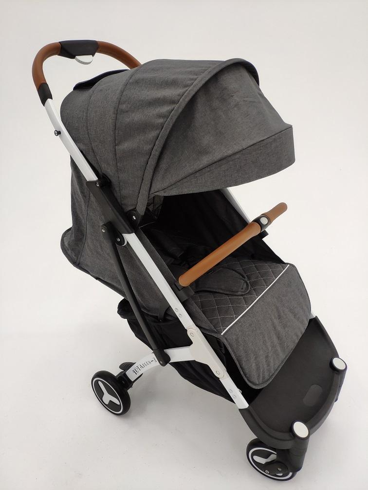 Коляска прогулочная YOYA PLUS 3 Темно-серая, белая рама, накидка на ножки в подарок коляска as seen on tv yoya 175 brown