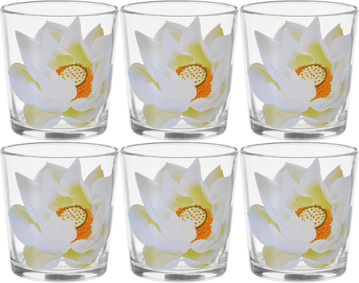Фото - Набор стаканов ОСЗ Ода Кувшинка, 250 мл, 6 шт [супермаркет] jingdong геб scybe фил приблизительно круглая чашка установлена в вертикальном положении стеклянной чашки 290мла 6 z