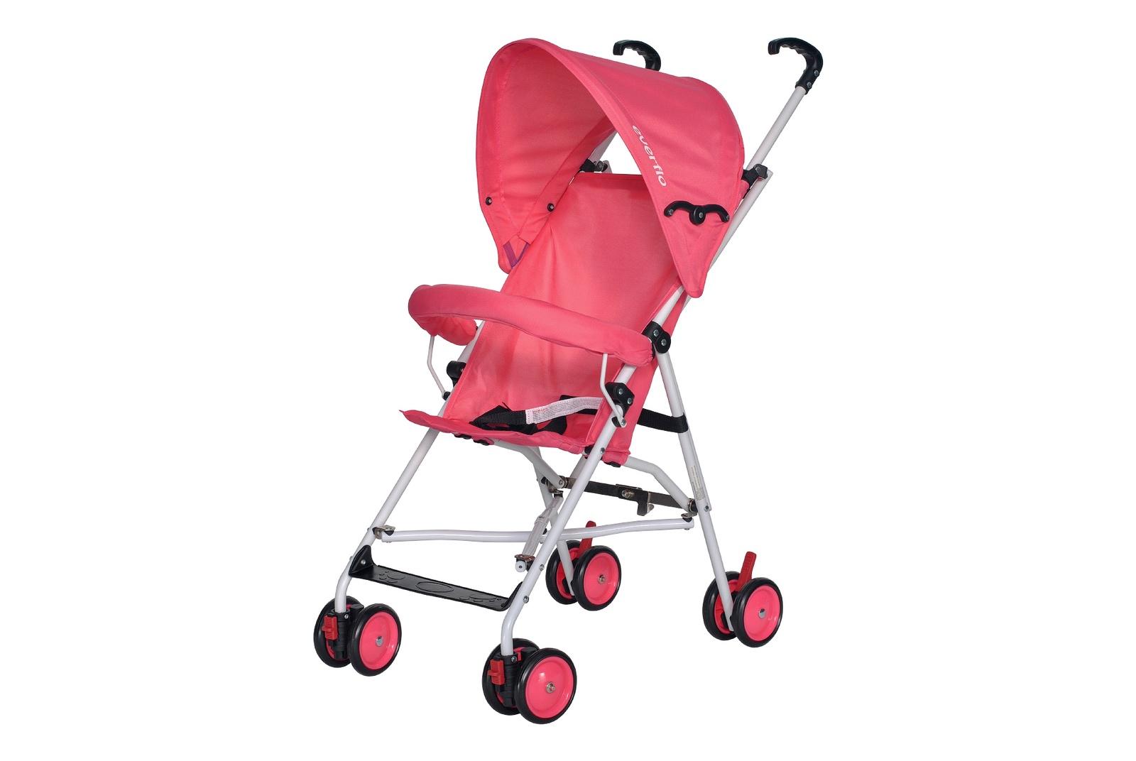 все цены на Коляска прогулочная Everflo Simple pink Е 100 розовый онлайн