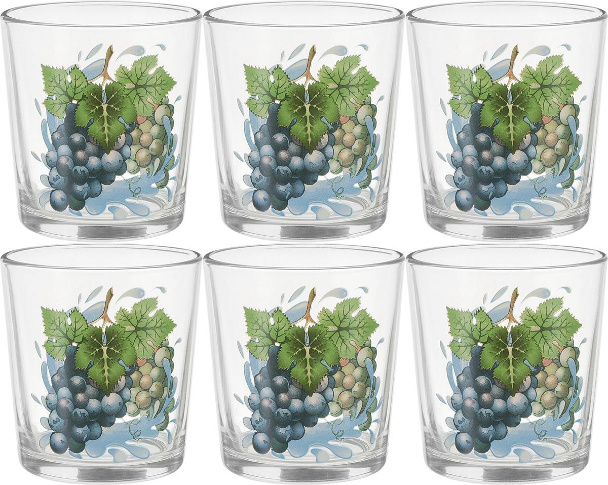 Фото - Набор стаканов ОСЗ Ода Виноград К, 250 мл, 6 шт [супермаркет] jingdong геб scybe фил приблизительно круглая чашка установлена в вертикальном положении стеклянной чашки 290мла 6 z