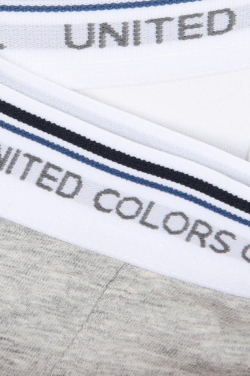Трусы для мальчика United Colors of Benetton, цвет: серый, 2 шт. 3MC10X230_501. Размер 170
