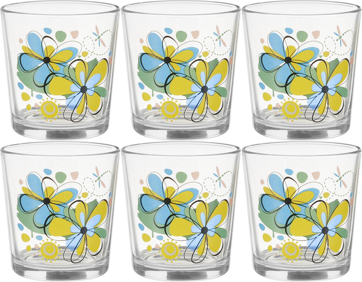 Набор стаканов ОСЗ Ода Радужные цветы, 250 мл, 6 шт кружка осз чайная радужные цветы 300 мл