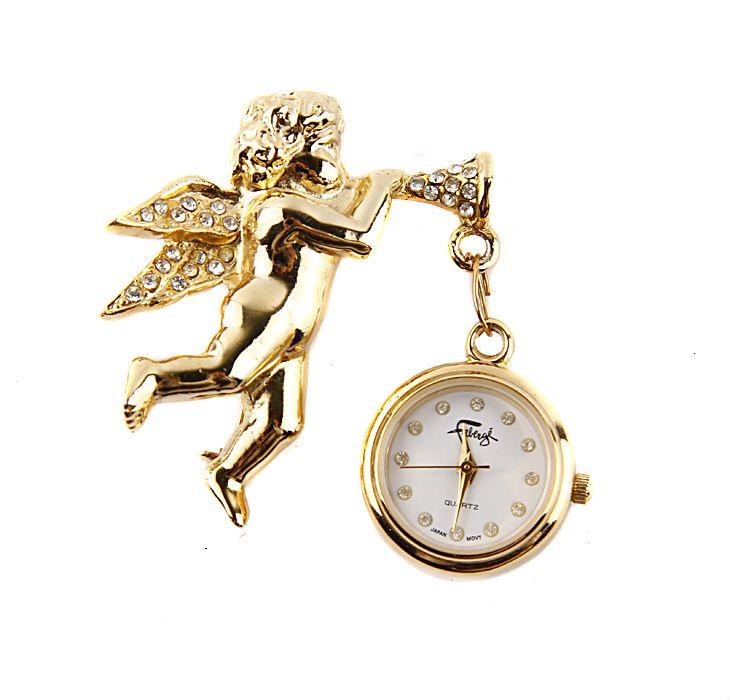 Старинные часы Faberge Путти, золотой, серебристый kangfeng кофейный