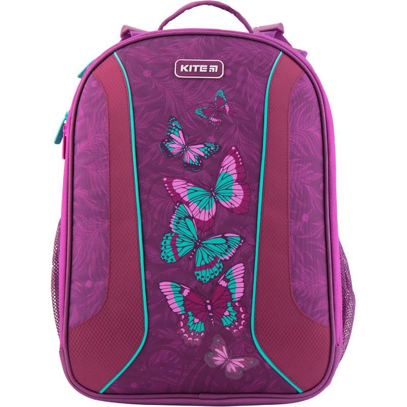 Рюкзак Kite школьный каркасный Education Butterflies фиолетовый 39x29x17 см, фиолетовый kite kite рюкзак школьный rachael hale фиолетовый