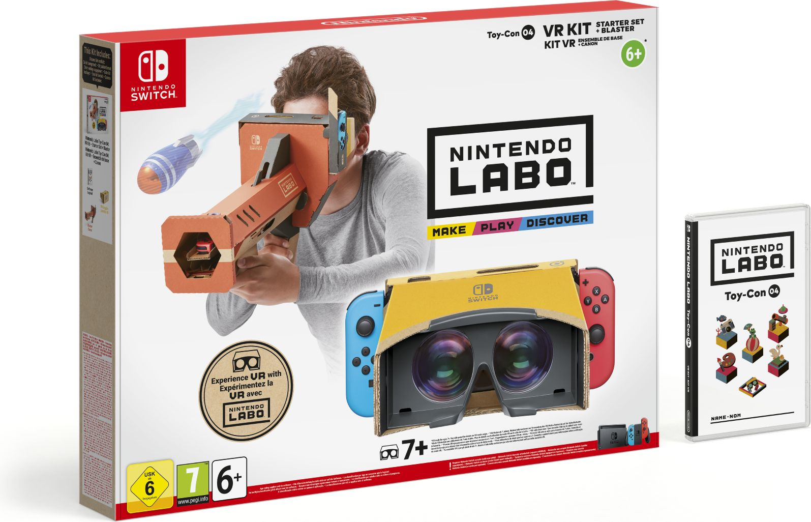 Комплект игровых аксессуаров Nintendo Labo VR Стартовый набор + бластер, 41834