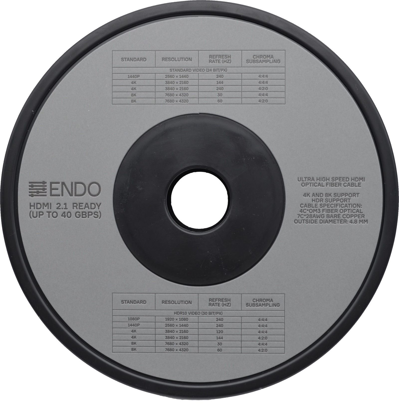 Кабель ENDO Inspiration HDMI - micro-HDMI/HDMI 2.1 READY 80 м устойчивый стенд для ноутбука другое для ноутбука подставка с охлаждающим вентилятором пластик другое для ноутбука