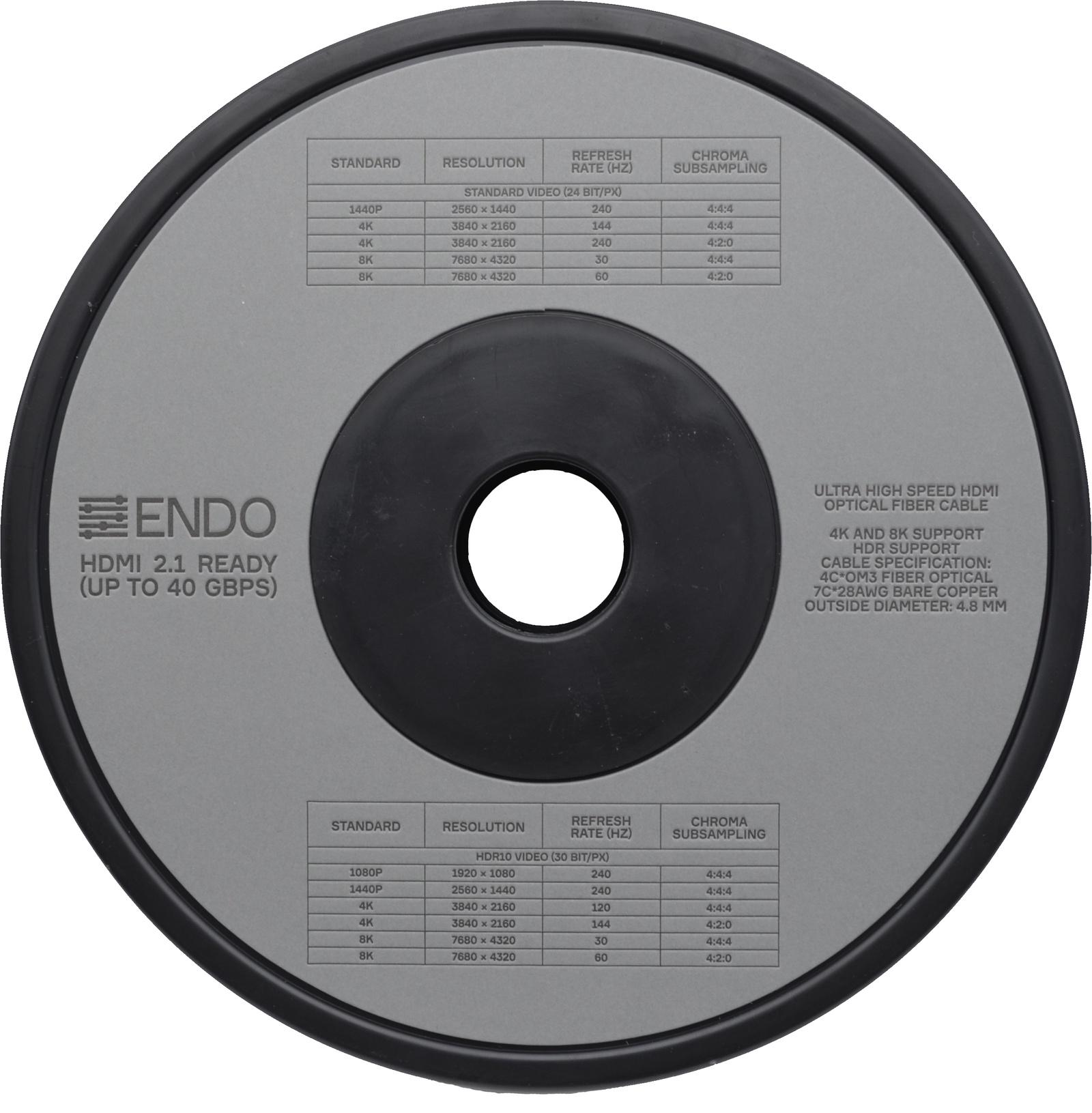 Кабель ENDO Inspiration HDMI - micro-HDMI/HDMI 2.1 READY 80 м valentine s day love pattern waterproof table cloth
