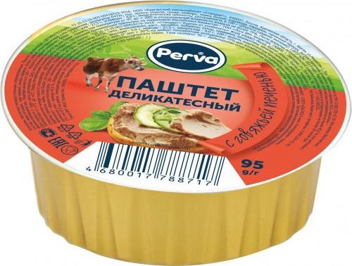 Паштет Деликатесный с говяжьей печенью Perva