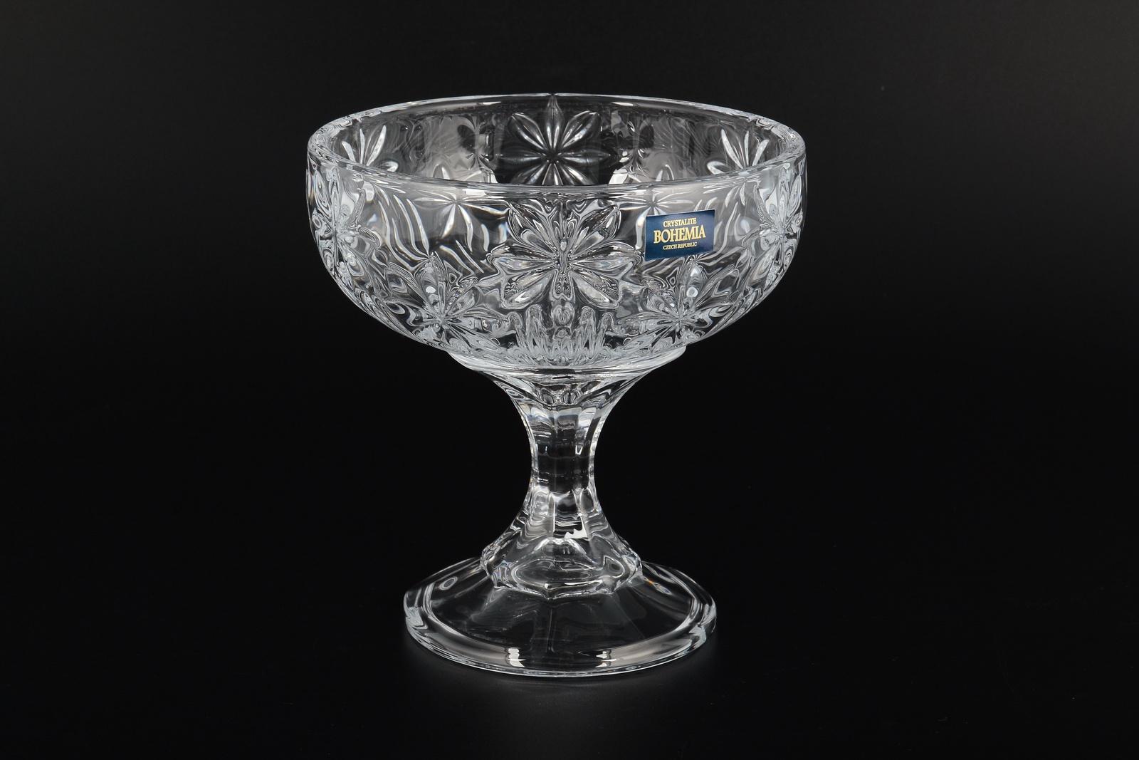 Конфетница Crystalite Bohemia на ножке 15 см, прозрачный