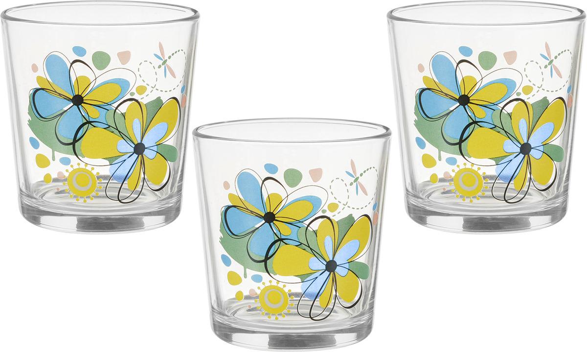 Набор стаканов ОСЗ Ода Радужные цветы, 250 мл, 3 шт кружка осз чайная радужные цветы 300 мл