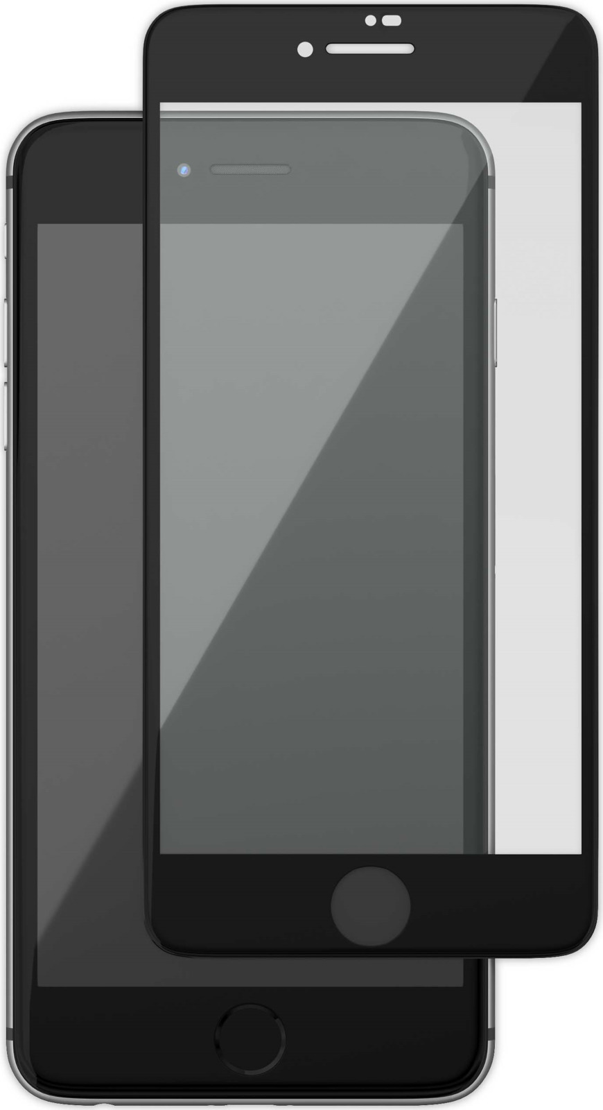 uBear GL14BL03-I8 защитное 3D стекло для Apple iPhone 8/7, Black