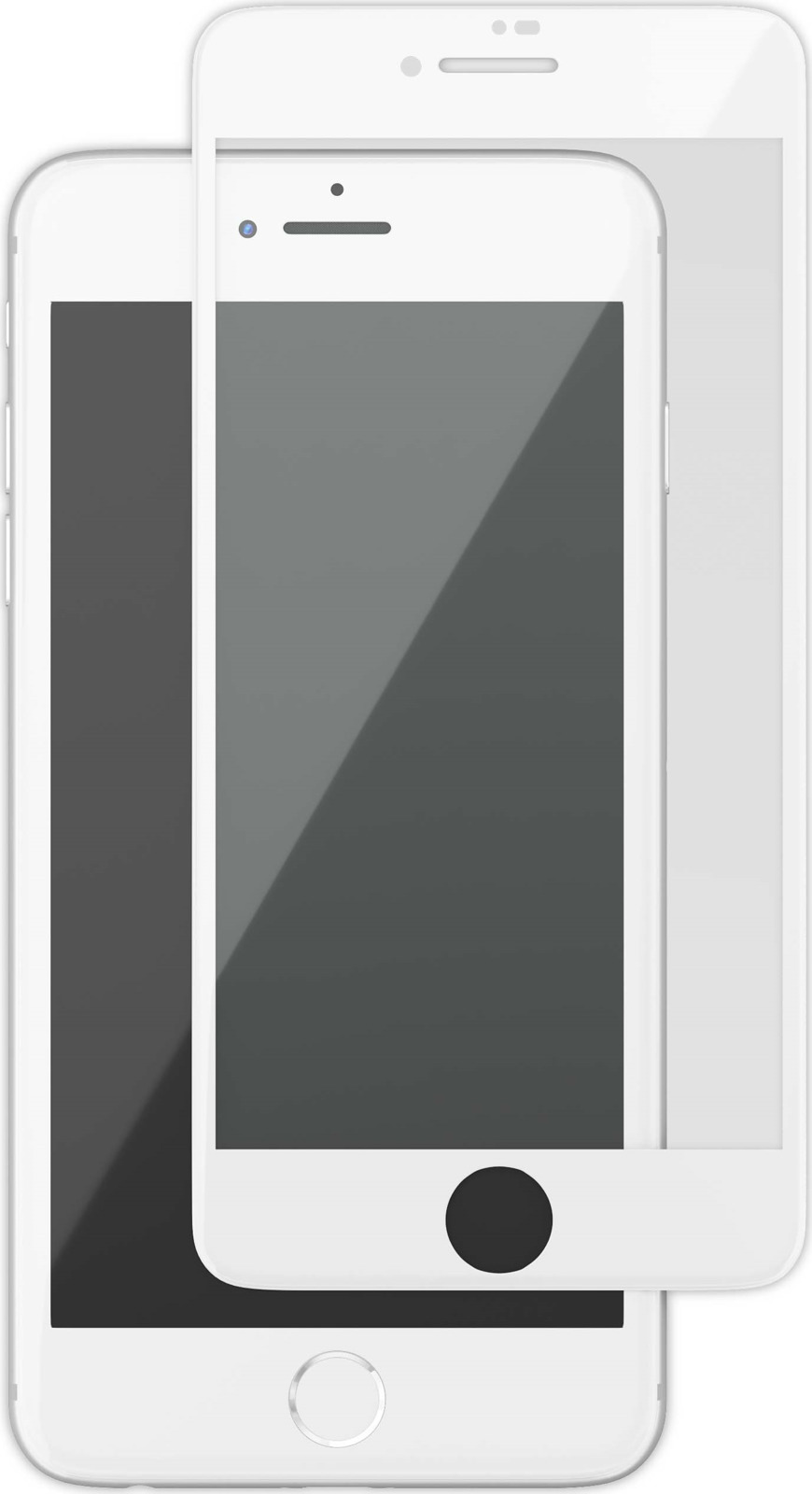 uBear GL14WH03-I8P защитное 3D стекло для Apple iPhone 8 Plus/ 7 Plus, White