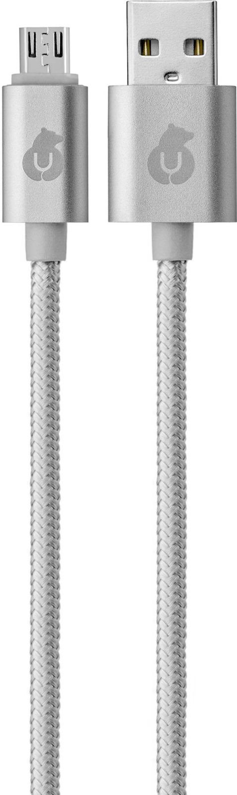 Кабель uBear Cord Micro-USB USB-A, серый, 1,2 м цена