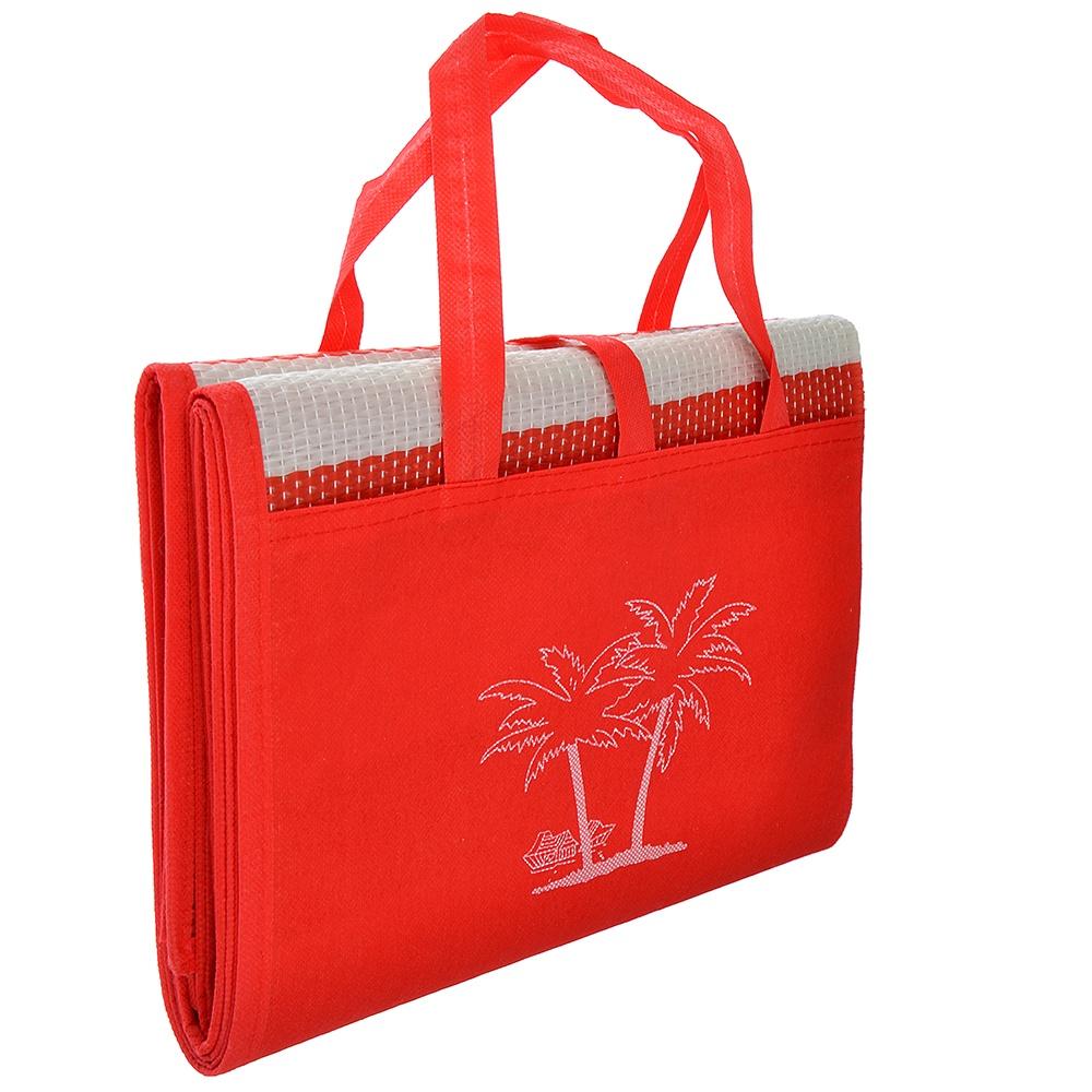 Коврик туристический Migliores Пляжный коврик с ручками для переноски, красный