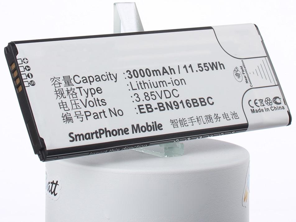 Аккумулятор для телефона iBatt iB-Samsung-SM-N9100-M1132 аккумулятор для телефона ibatt ib eb bn916bbc m1132