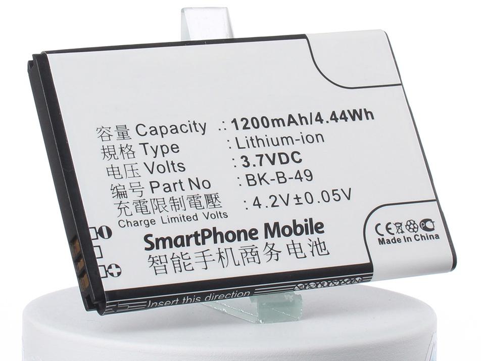 Аккумулятор для телефона iBatt iB-BK-B-49-M1400 аккумулятор для телефона ibatt ib bbk i508 m2494