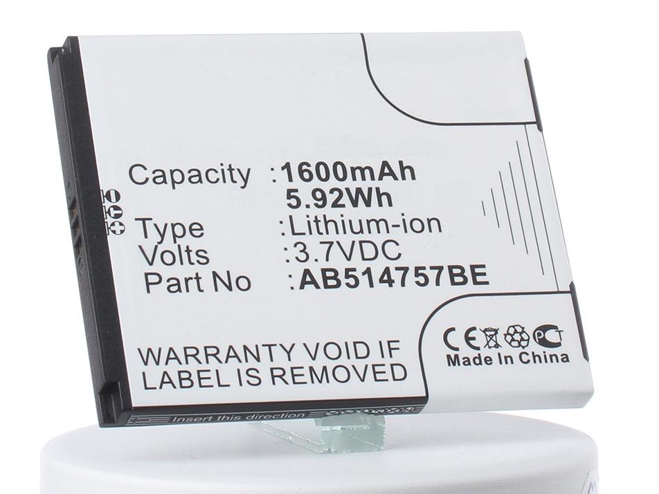 Аккумулятор для телефона iBatt iB-AB514757BC-M148 аккумулятор для телефона ibatt ib ab514757bc m148