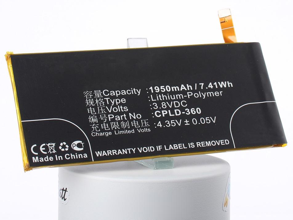 Аккумуляторная батарея iBatt iB-Coolpad-ivvi-M1658 1950mAh. аккумулятор для телефона ibatt ib cpld 360 m1658