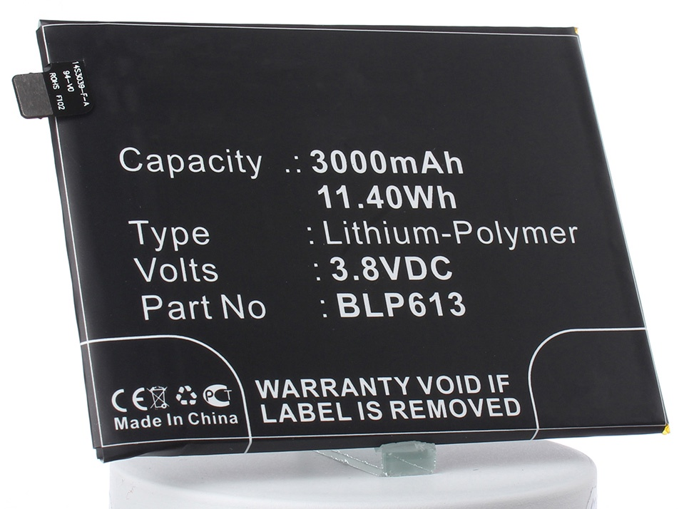 Аккумулятор для телефона iBatt iB-Oneplus-A3000-M2391