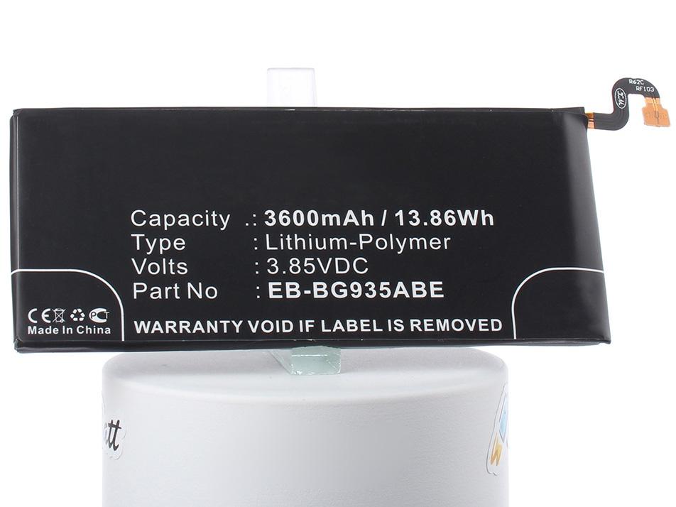 Аккумуляторная батарея iBatt iB-EB-BG935ABA-M2725 3600mAh. аккумулятор для телефона craftmann eb bg935aba для samsung galaxy s7 edge sm g935f