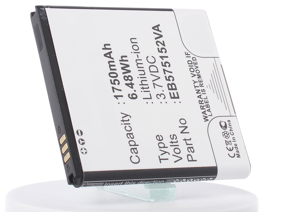 Аккумулятор для телефона iBatt iB-EB575152VA-M323 replacement 3 7v 1500mah battery usb charging data cable for samsung galaxy s i9000 t959 epic 4g