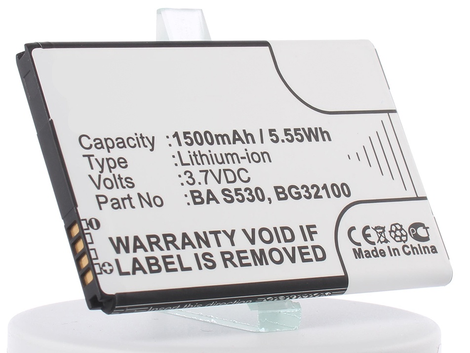 Аккумуляторная батарея iBatt iB-35H00152-01M-M336 1350mAh. аккумулятор для телефона ibatt ib ba s530 m336