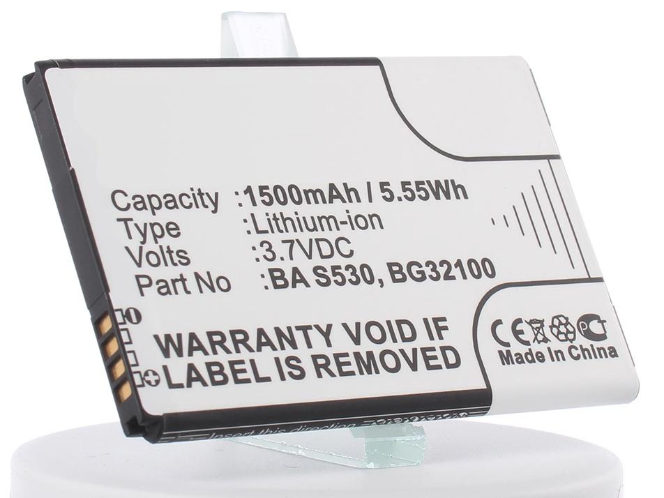 Аккумулятор для телефона iBatt iB-BA-S530-M336 корпус htc hero