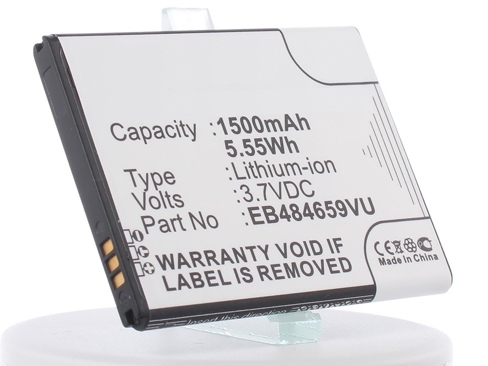 Аккумулятор для телефона iBatt iB-EB484659VA-M349 аккумулятор craftmann для samsung galaxy w i8150 s8600 wave 3 1500mah craftmann