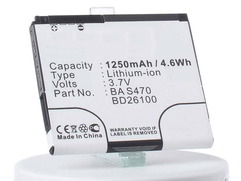 Аккумулятор для телефона iBatt iB-BA-S470-M351 htc hd mini цена