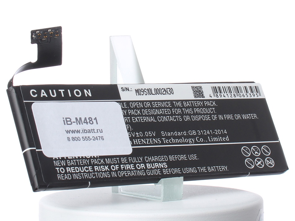 Аккумулятор для телефона iBatt iB-LIS1491APPCS-M481 аккумулятор для телефона ibatt ib li3817t43p3h595251 m612