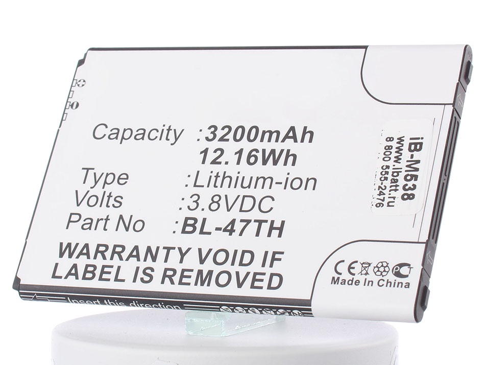Аккумулятор для телефона iBatt iB-BL-47TH-M538 protective s pattern anti slip tpu case for lg optimus g pro 2 lg p72 transparent