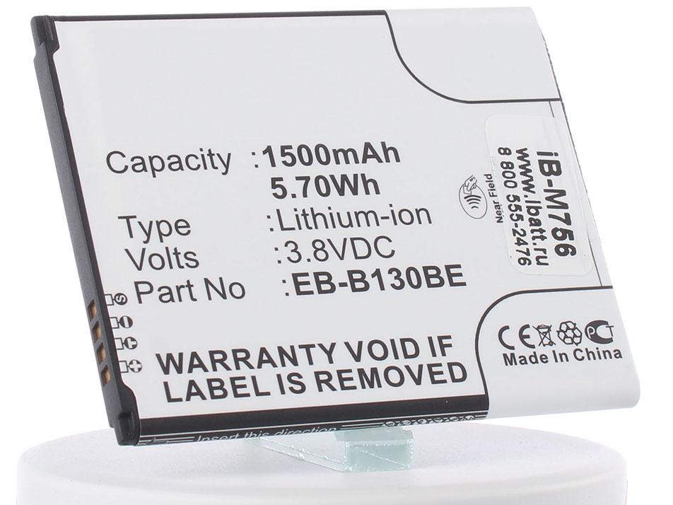 Аккумулятор для телефона iBatt iB-EB-B130BE-M756 аккумулятор krutoff для samsung galaxy ace 3 s7270 eb b100ae 29012