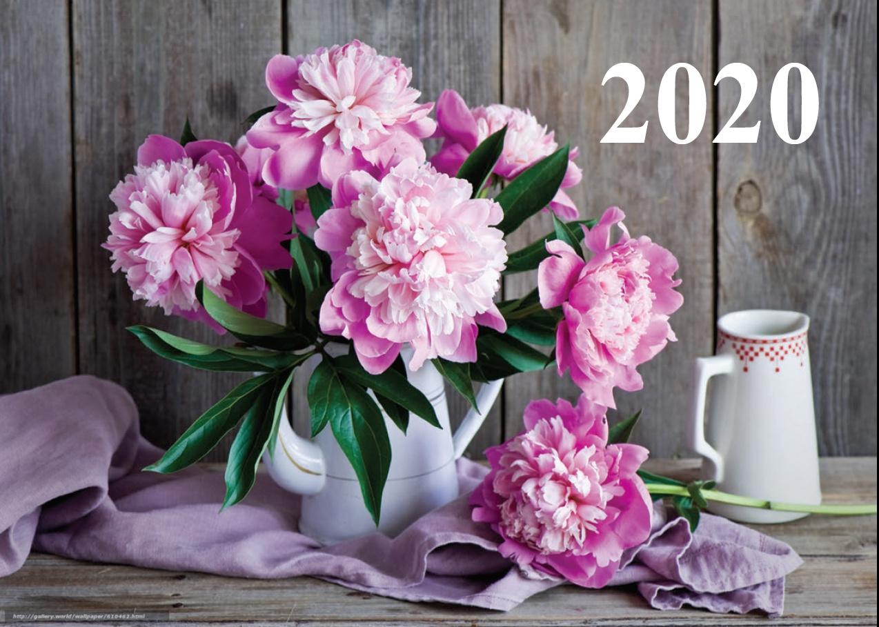 Календарь УЛЫБКА 30-3010 пионы.