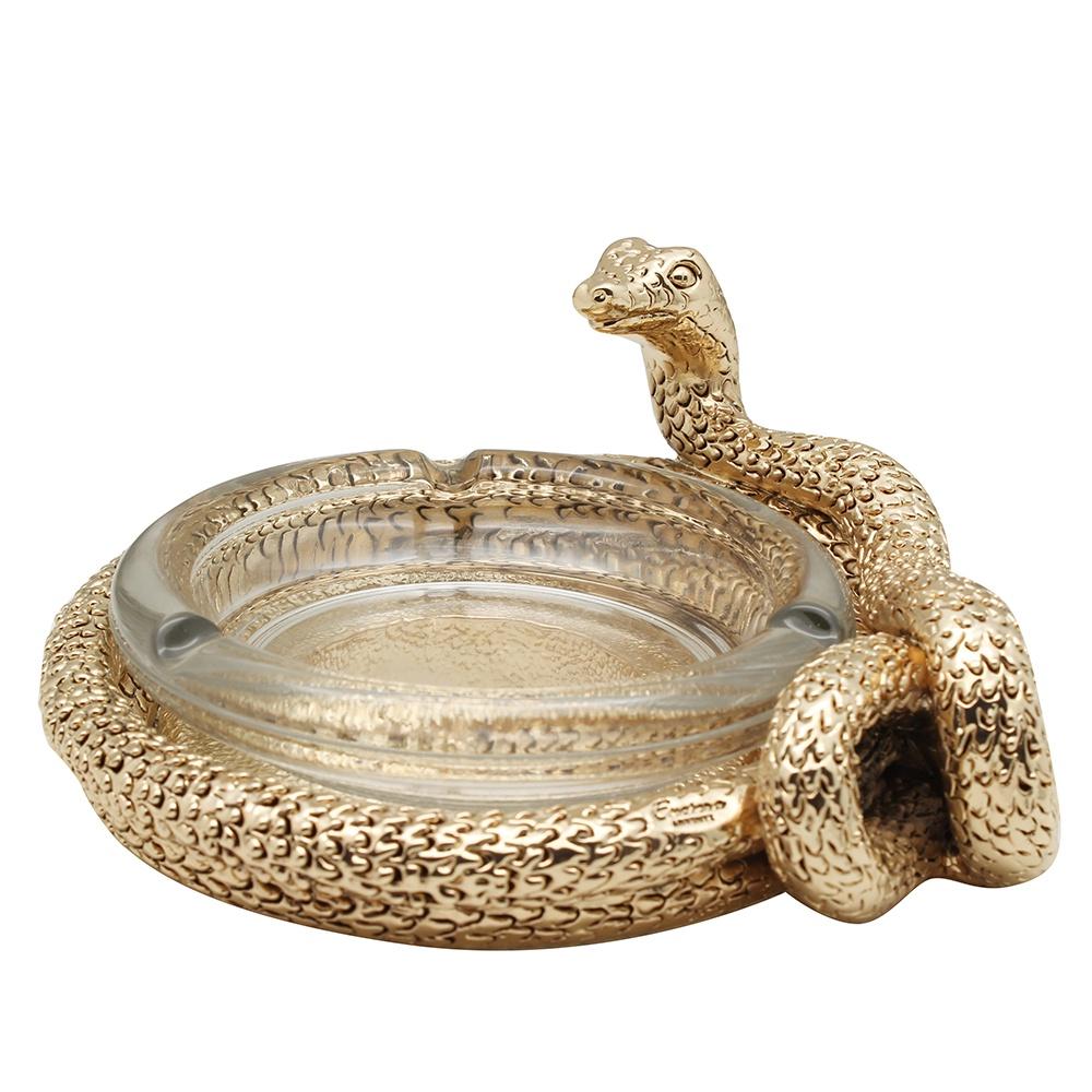 Пепельница Exetera argenti Змея, 46-408716, золотой цена