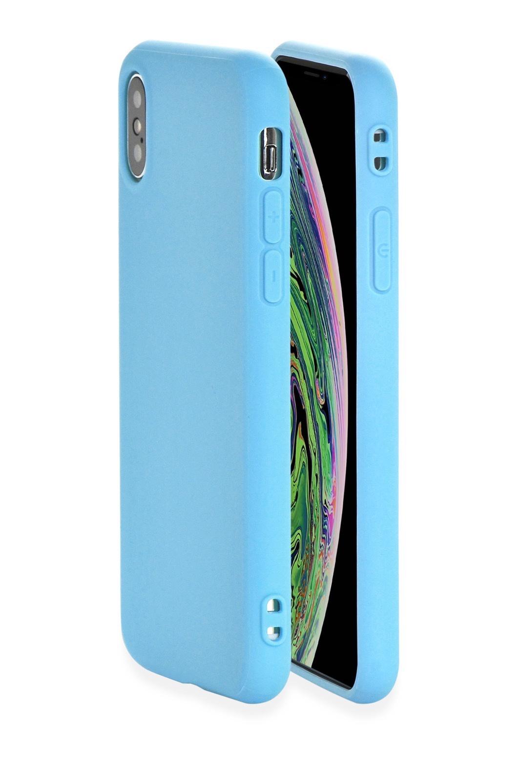 """Чехол для сотового телефона Gurdini Чехол накладка Soft Lux силикон (9) для Apple iPhone XS Max 6.5"""",907122, голубой, голубой"""