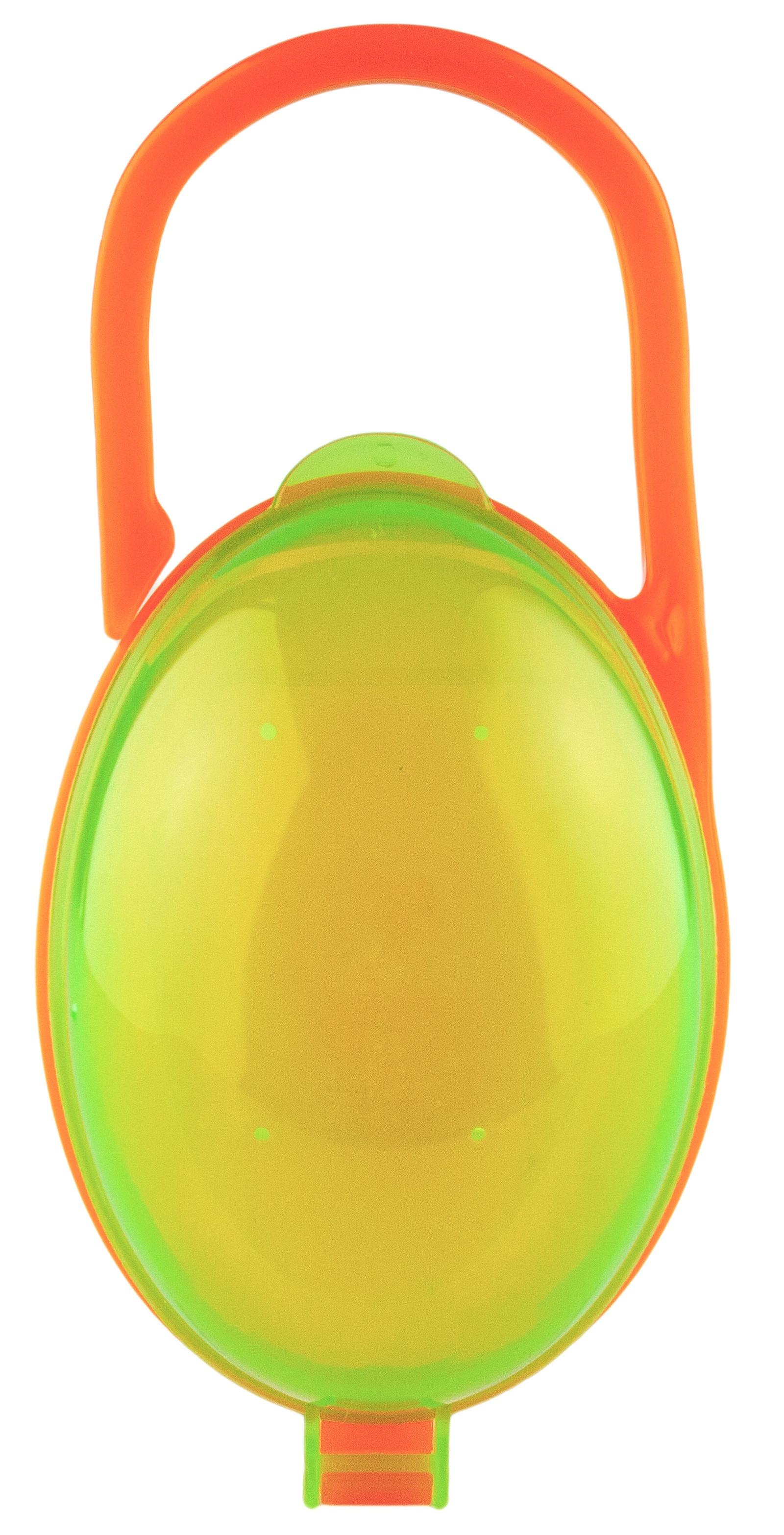 Будь здоров Футляр контейнер для соски пустышки, зеленый/оранжевый бады будь здоров каталог