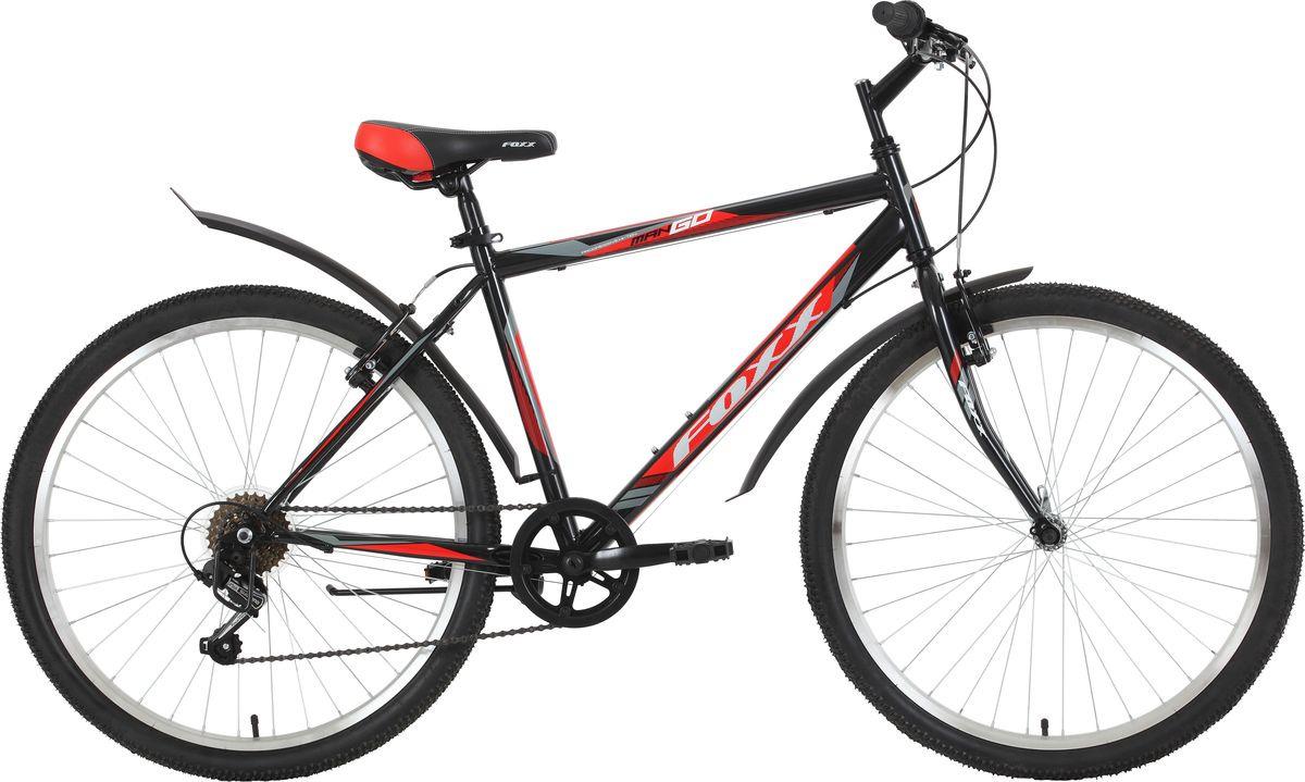 Велосипед горный Foxx ManGo, колесо 26, рама 20, 26SHV.MANGO.20BK9, черный