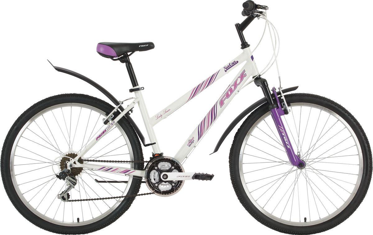 Велосипед горный Foxx Salsa, колесо 26, рама 17, 26SHV.SALSA.17WT9, белый