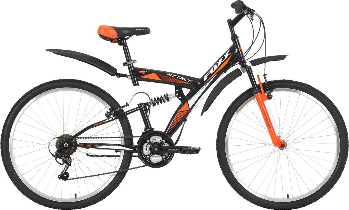 Велосипед горный Foxx Attack, колесо 26, рама 20, 26SFV.ATTAC.20BK9, черный