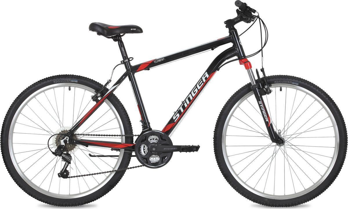 Велосипед горный Stinger Element, колесо 26, рама 14, 26AHV.ELEM.14BK9, черный