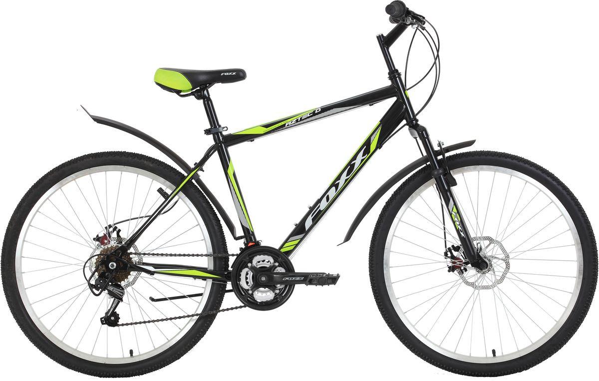 Велосипед горный Foxx Aztec D, колесо 26, рама 18, 26SHD.AZTECD.18BK9, черный велосипед горный foxx freelander цвет синий 26