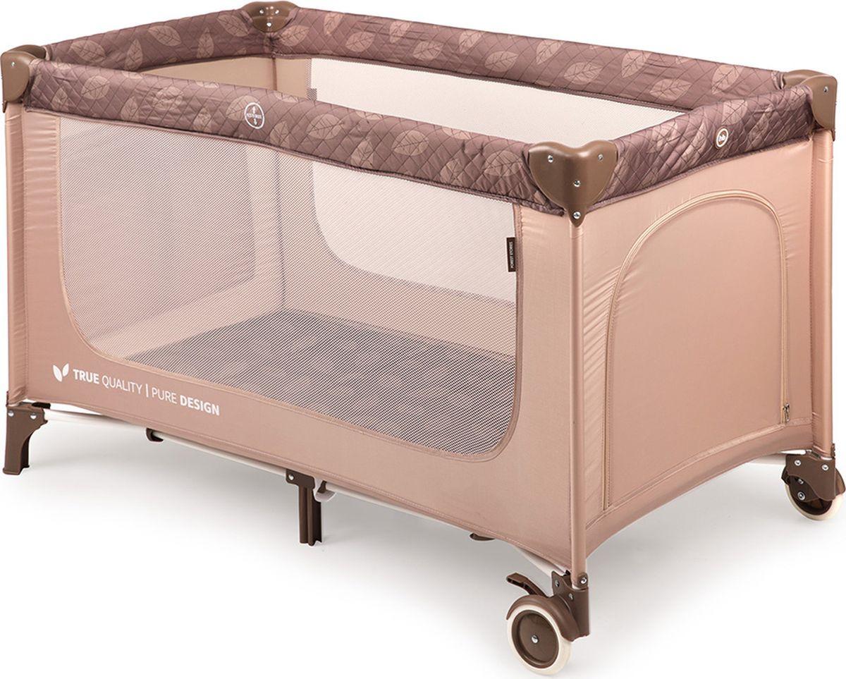 Манеж-кроватка Happy Baby Martin, бежевый кровать манеж happy baby martin sand